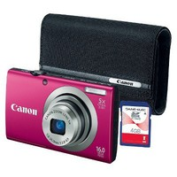 Canon A2300 Digital Camera Bundle with Case and 4GB Memory Card