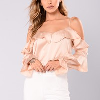 Eirika Satin Top - Champagne