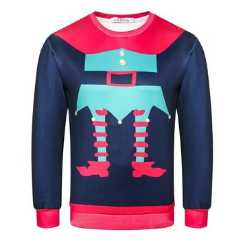 Funny Elf Ugly Christmas Sweater