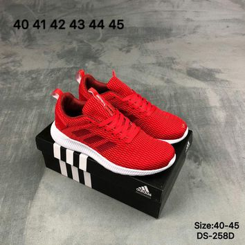 Adidas Original LITE RACER NEO Fashion Breathe Men Sports Running Shoes Red/Black 2 Color