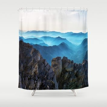 Mountains Breathe Too Shower Curtain by Mixed Imagery