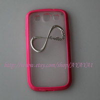 Samsung Galaxy S3 case,phone cover, roseo color frosted translucent Samsung Galaxy S3 case with a Infinity