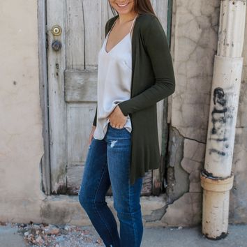 Days Of Fall Cardigan - Olive