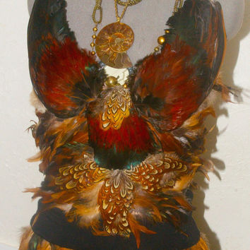 Feather goddess Bustier made to order