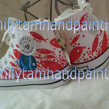 Undersea World Custom Converse Sneakers, Fashion Shoes for Kids, Special Gifts for Boys and Girls, Inspired from Fishes under the Sea