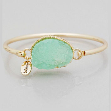 Beloved Druzy Bangle Bracelet