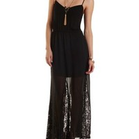 Chiffon & Lace Maxi Dress by Charlotte Russe