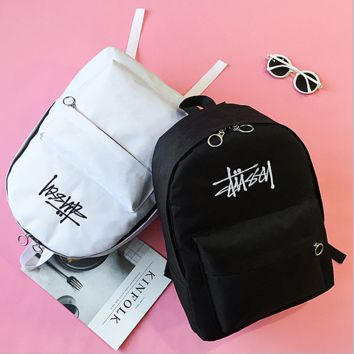 Stussy Casual Sport Laptop Bag Shoulder School Bag Backpack