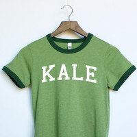 Kale Ringer Shirt in Green for Women