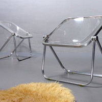 Plona Folding Chair, Giancarlo Piretti by Castelli, folding chair, acrylic 60s