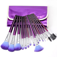 16PCs Professional Makeup Cosmetic Brush Set Kit Pouch With Net Inside Bag = 1705620292