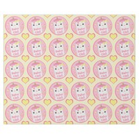 Kawaii Bottle Baby Girl Glossy Wrapping Paper