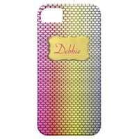 Pretty Rainbow Patterned  Personalized iPhone Case iPhone 5 Cover from Zazzle.com