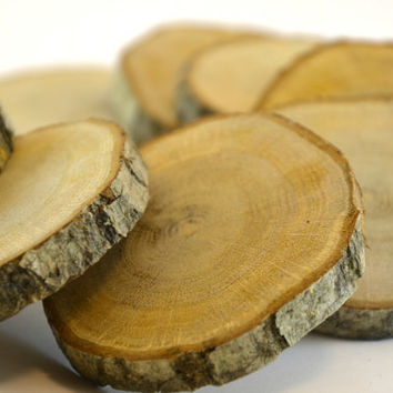 40 pcs. SMALL Oak Tree Wood Coasters for rustic wedding decors, home wooden decors,  wood slice, oak wood disc for wood crafts
