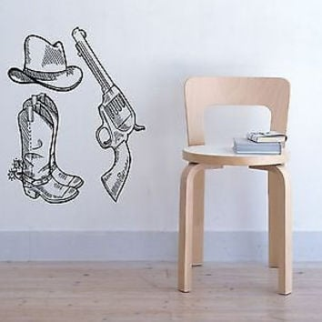 Colt Wall Sticker Decal Hand Gun Firearm Colt 1911 Gun Wall Art Decor 3811
