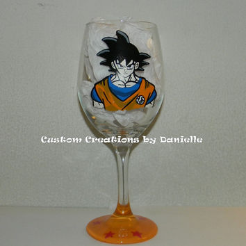 DragonBall Z inspired wine glass