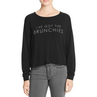 Michelle by Comune Womens Graphic Long Sleeve T-Shirt