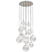 Impressive Extra Large Glass Ball Chandelier by RAAK, Amsterdam 1960