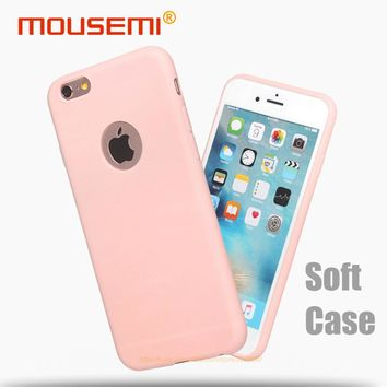 MOUSEMI Phone Cases For iPhone 6s 6 Case Silicone Pink Candy Cute Black Cover Soft Case For iPhone 6s 6 Plus 360 Protection Case