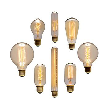 Vintage Edison Bulb, Incandescent Light Bulb Decorative Living Room,Bedroom, ST64/A19/G80(PD-71)