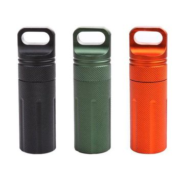 DCCKUH3 Waterproof Capsule Seal Bottle Outdoor EDC Survival Case Container Holder Outdoor Protect Gears Survival EDC Emergency Tool ISP