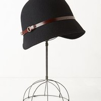 Society Cloche by Anthropologie Black One Size Hats