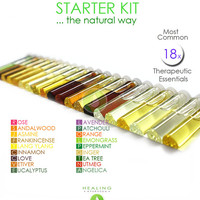 Essential oils starter kit - Healing essential oils set- Therapeutic oils-100% Pure essential oils- Healing - Aromatherapy-Ayurveda -Chakras