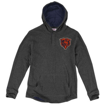 Chicago Bears Mitchell & Ness Hooded Long Sleeve T-Shirt – Charcoal