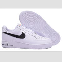 NIKE Women Men Running Sport Casual Shoes Sneakers Air force Low tops White black hook