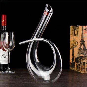 6 Shape 1200ML Decanter Handmade Crystal Red Wine