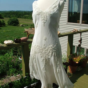 Wedding Dress 1920s Vintage Inspired by RetroVintageWeddings