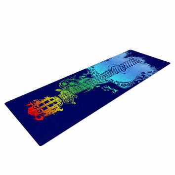 "Frederic Levy-Hadida ""Nature Tune"" Blue Multicolor Yoga Mat"