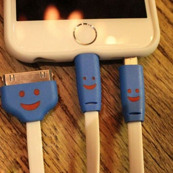 Three-in-one Light Up Lightning Cable for iPhone 6s 6 plus Android + Gift Box