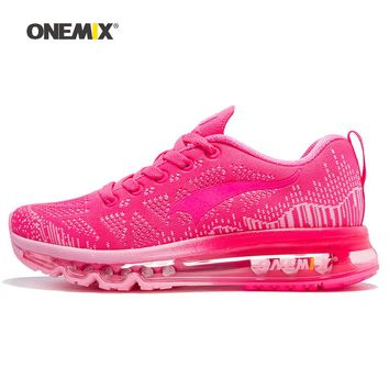ONEMIX 2018 Women Running Shoes Athletic Trainers Woman Zapatillas Deportivas Sports Shoe Air Cushion Outdoor Walking Sneakers 7