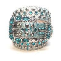 B.B. Simon 'Sea Waves' Indicolite Swarovski Crystal Belt