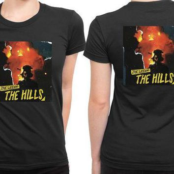 ICIK7H3 The Weeknd The Hills Cover Album 2 Sided Womens T Shirt