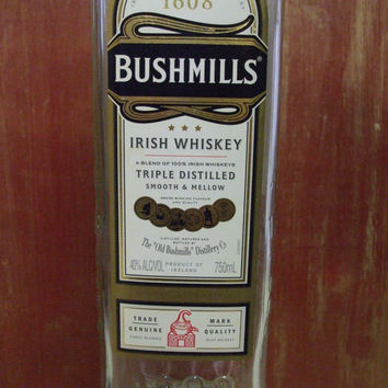 20 Ounce Pure Soy Candle in Reclaimed Bushmills Irish Whiskey Bottle - Your Choice of Scent