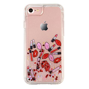 Lush Lips Dual Glitter iPhone Case