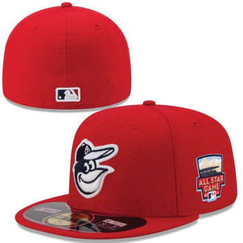 Baltimore Orioles New Era 2014 Home Run Derby 59FIFTY Fitted Performance Hat – Scarlet