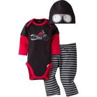 Gerber Newborn Baby Boy Bodysuit, Pant, and Cap Outfit Set, 3-Piece - Walmart.com