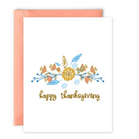 Happy Thanksgiving Card - Digital Download Card by Yellow Daisy Paper Co.