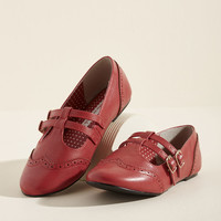 B.A.I.T. Footwear Double Trouble Flat in Red
