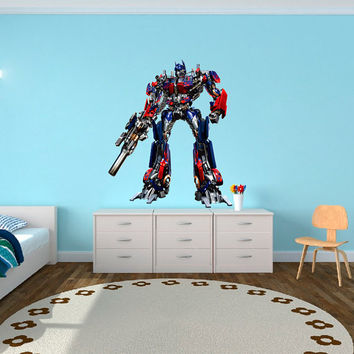 Optimus Prime Transformers - Autobots Wall Decal Printed and Die-Cut Vinyl Apply in any Flat Surface- Autobots Transformers Wall Decal
