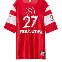 University Of Houston Lace-Up Boyfriend Jersey - PINK - Victoria's Secret