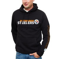 Pittsburgh Steelers Horizontal Text Pullover Hoodie - Black