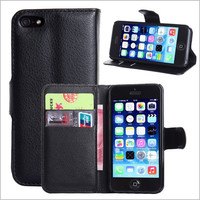 cell phone case PU leather case wallet case phone case cover for iPhone 5 5S 5G