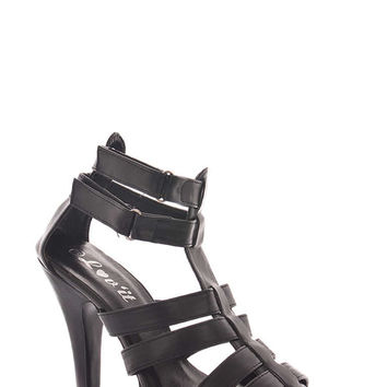 Strappy Heeled Gladiator Shoe