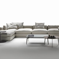 Corner sectional fabric sofa Beauty Collection by FLEXFORM | design Antonio Citterio