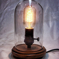 Edison Table Light - Desk Lamp - Steampunk Light - Industrial Lamp - Colonial Light - BULB INCLUDED