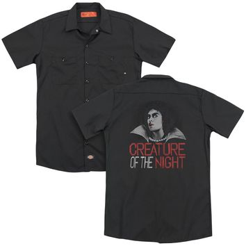 Rocky Horror Picture Show - Creature Of The Night (Back Print) Adult Work Shirt